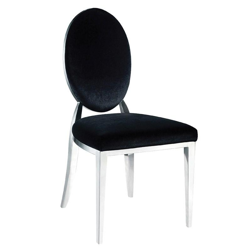 Celine Dining Chair in Black Velvet