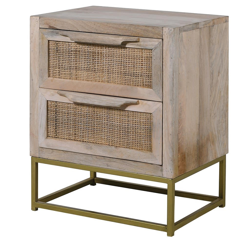 Chablis 2 Drawer Bedside Table