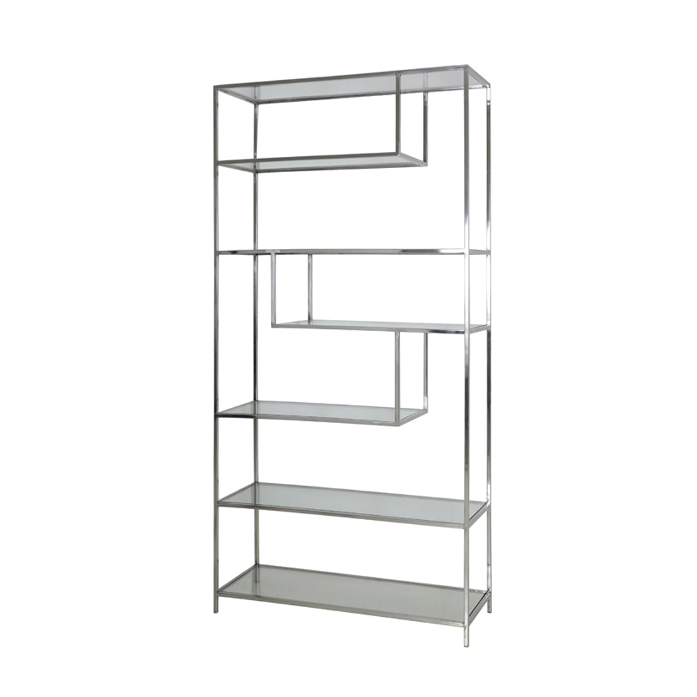 Charteris Open Cabinet with Glass Shelves