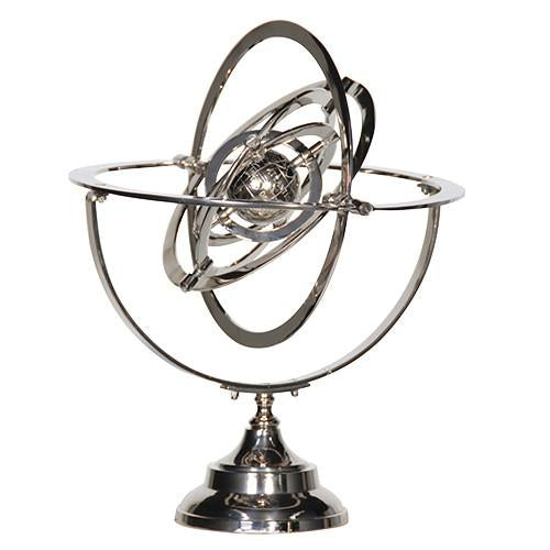 Chrome Armillary Sphere