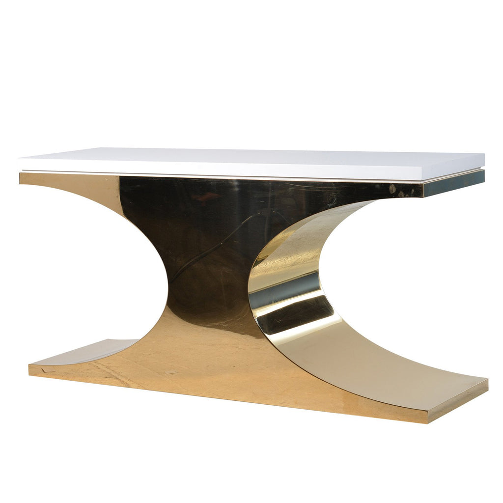 Constanza Gold Console Table