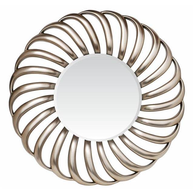 RV Astley Contemporary Nickel Swirl Mirror
