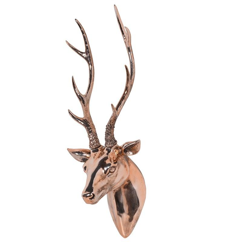 Copper Stag Wall Hanger