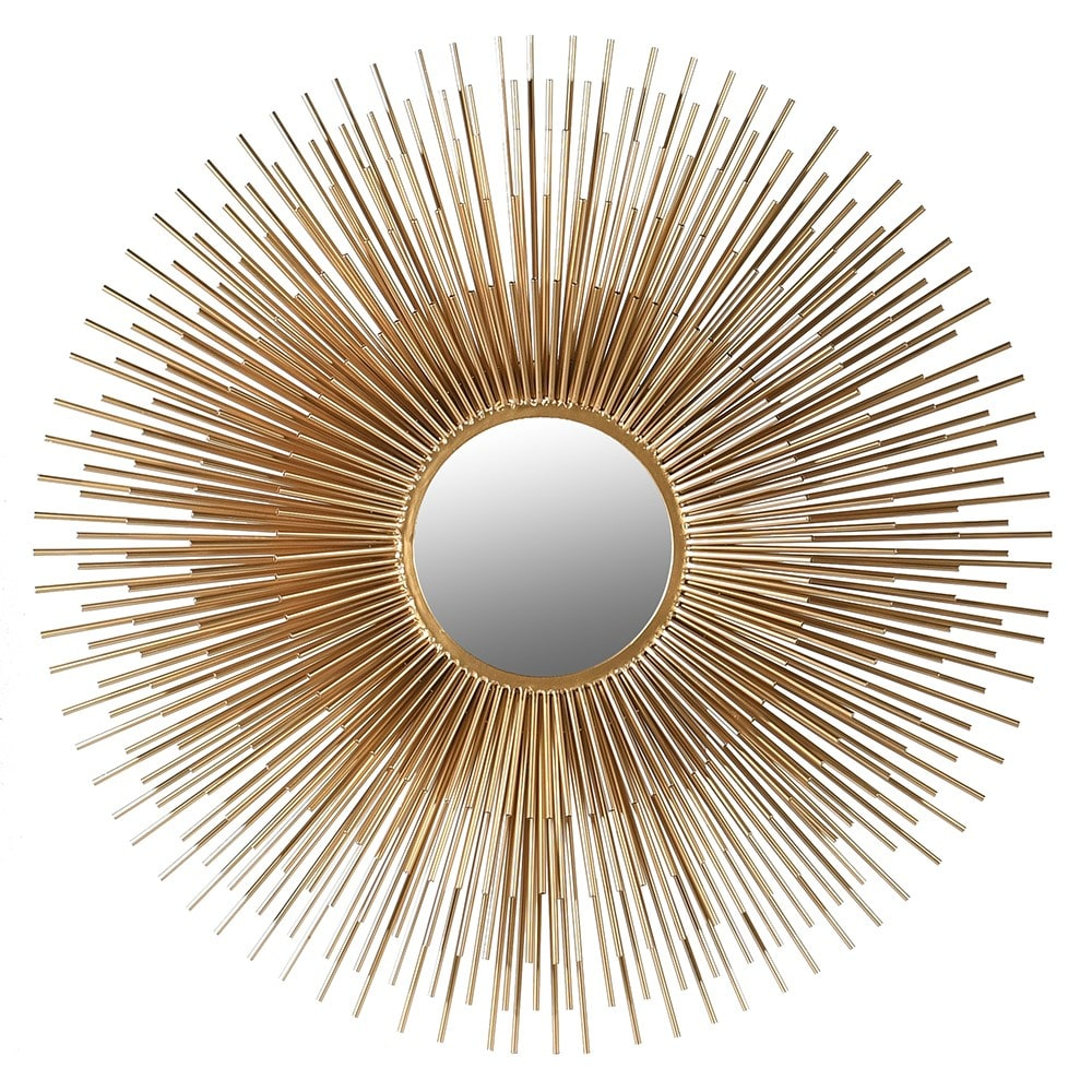 De Soleil Medium Mirror with Golden Metal Effect
