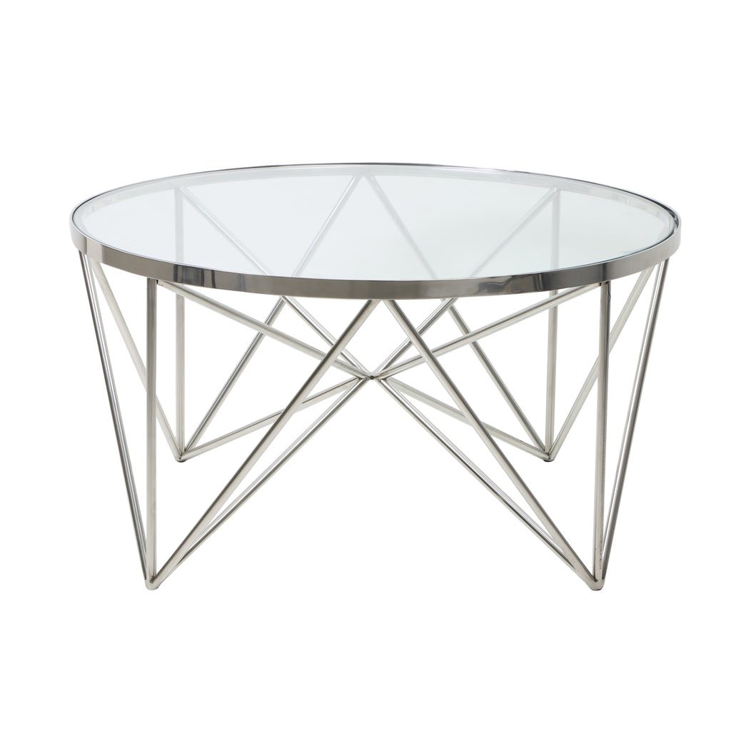 Delius Coffee Table in Nickel