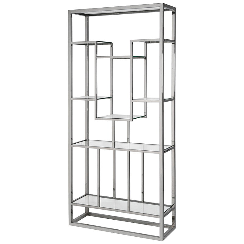 Drummond Shelving Unit in Chrome