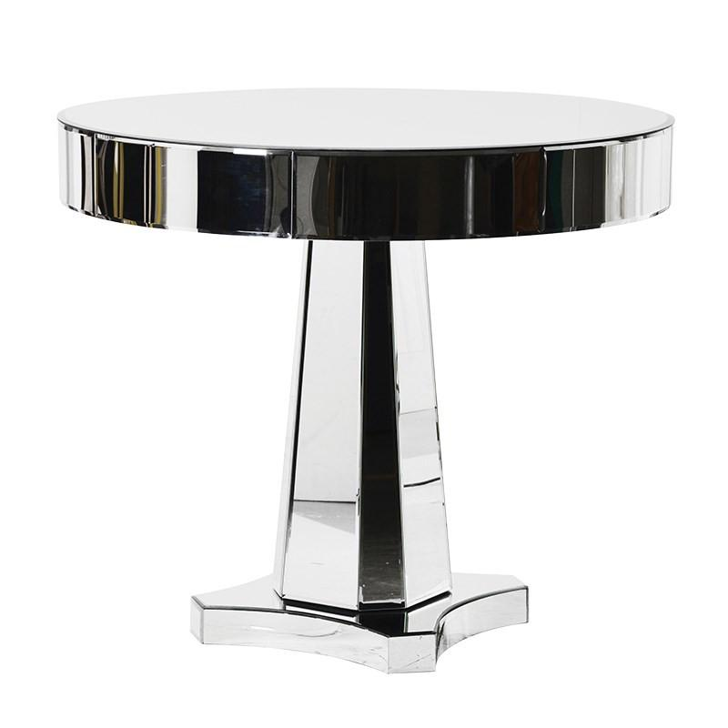 Easom Round Mirrored Dining Table