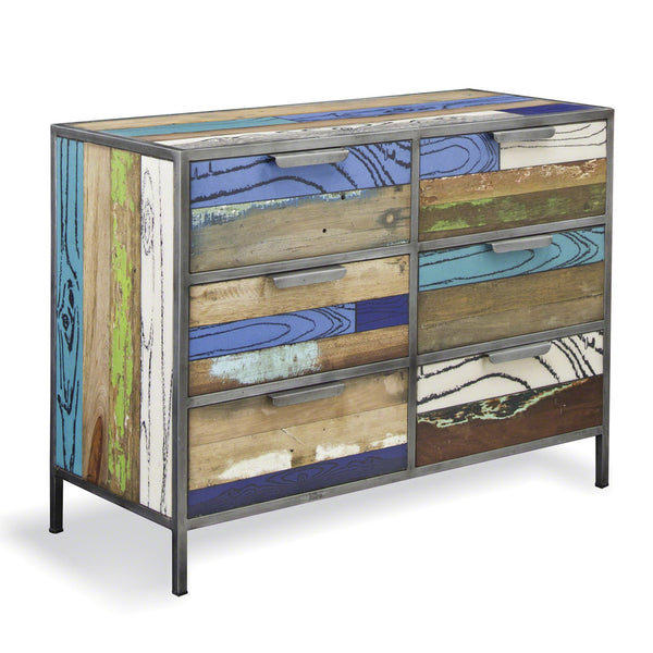 Eclectic Industrial Chest Of Drawers Shropshire Design