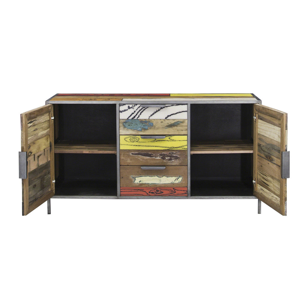 Eclectic Industrial Sideboard