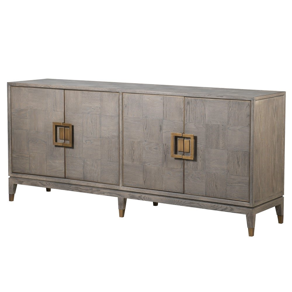 Fernsby Squares Sideboard with Oak and Brass
