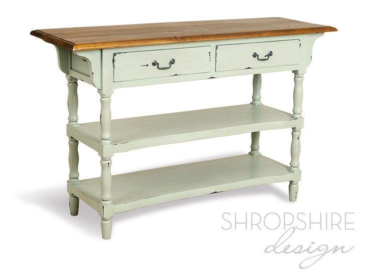 French Country Painted Console Table