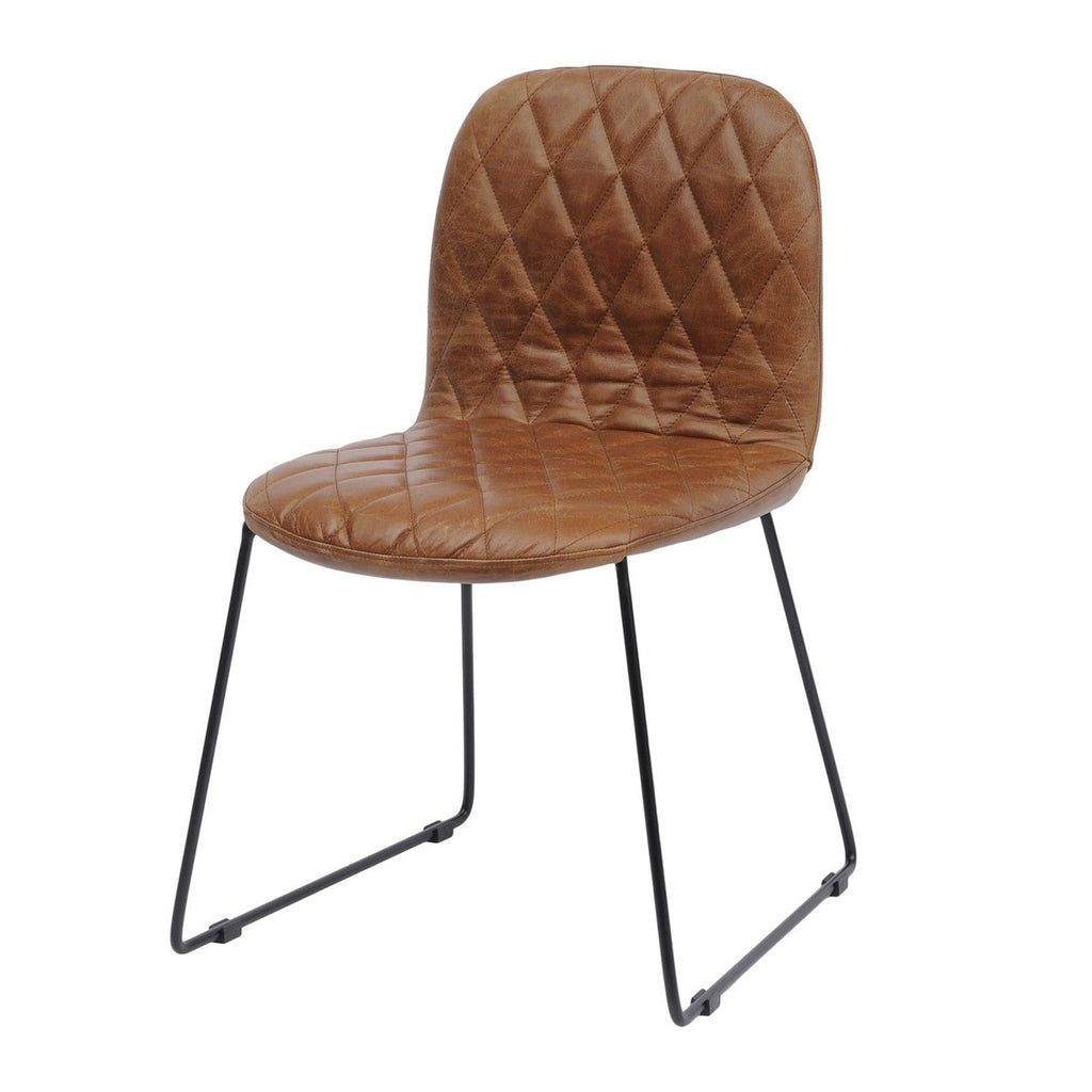 Frey Tan Leather Dining Chair