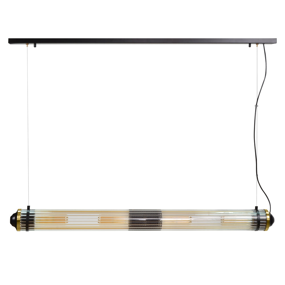Furdo Ceiling Lamp with Glass and Brushed Brass
