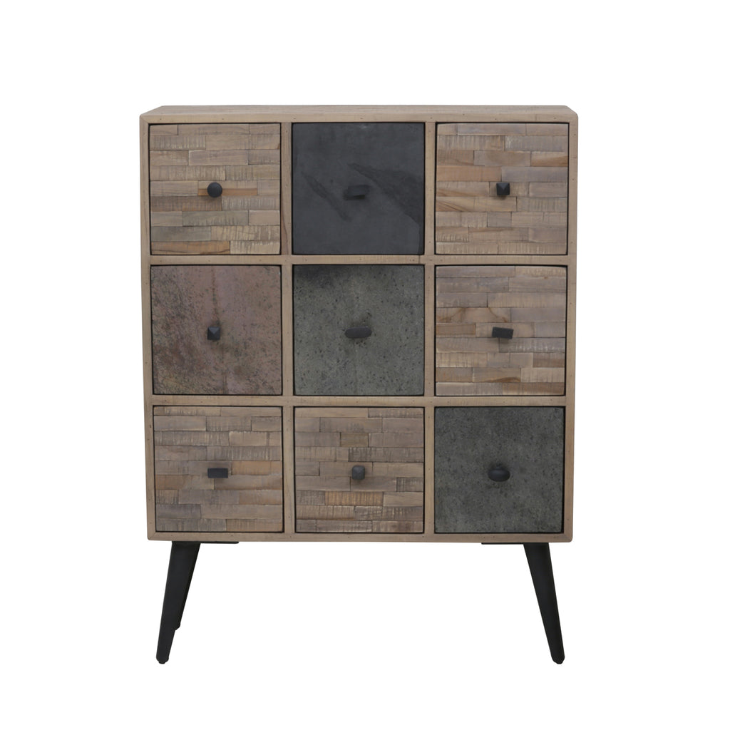 Gahlia Cabinet in Weathered Wood