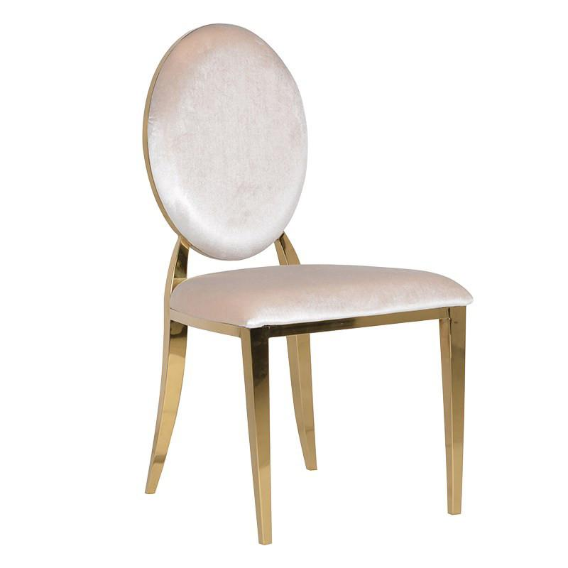 Grace Ivory Velvet & Gold Dining Chair