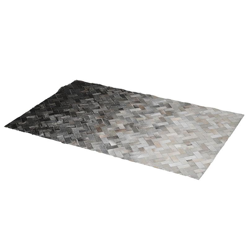Grey Colour Gradient Hide Rug