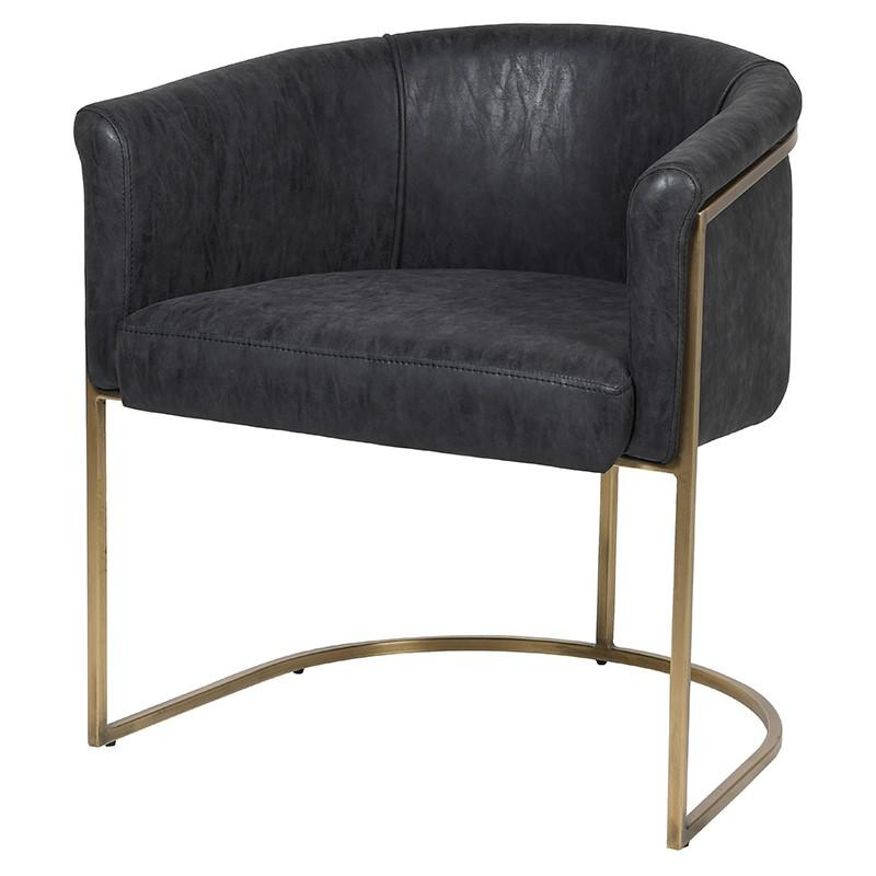 Hester Black and Gold Dining Chair