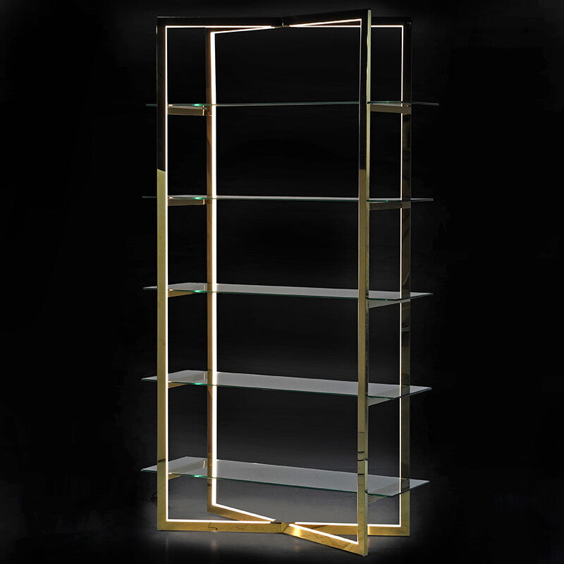 Illuminaire Gold LED Shelving Unit
