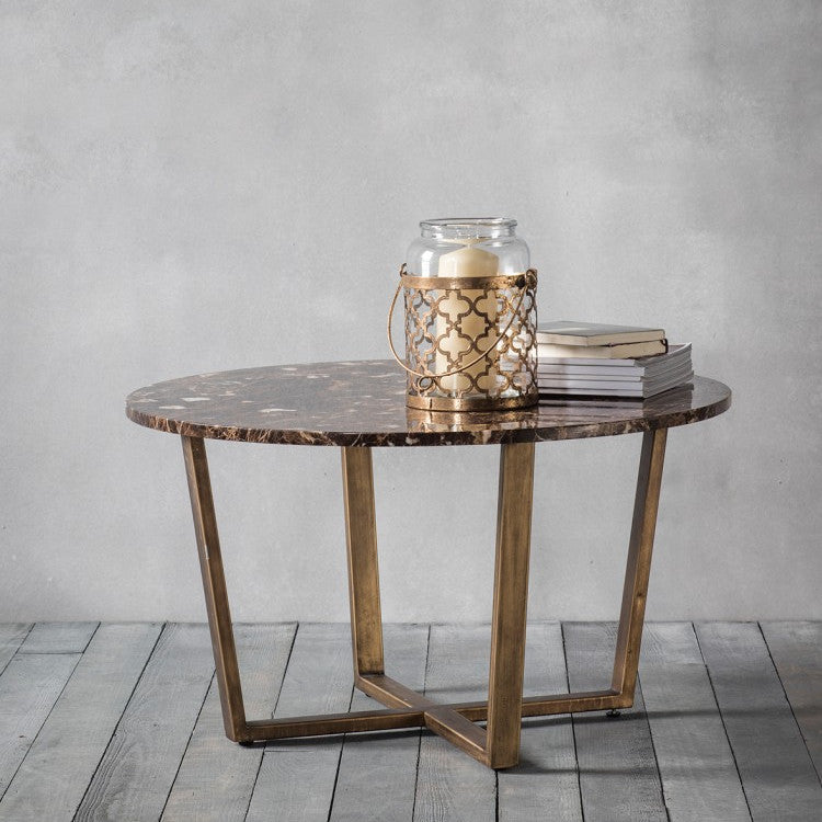 Imanni Gold & Marble Coffee Table