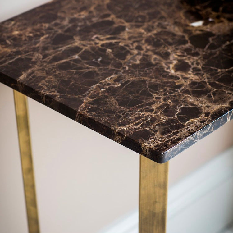 Imanni Gold & Marble Console Table