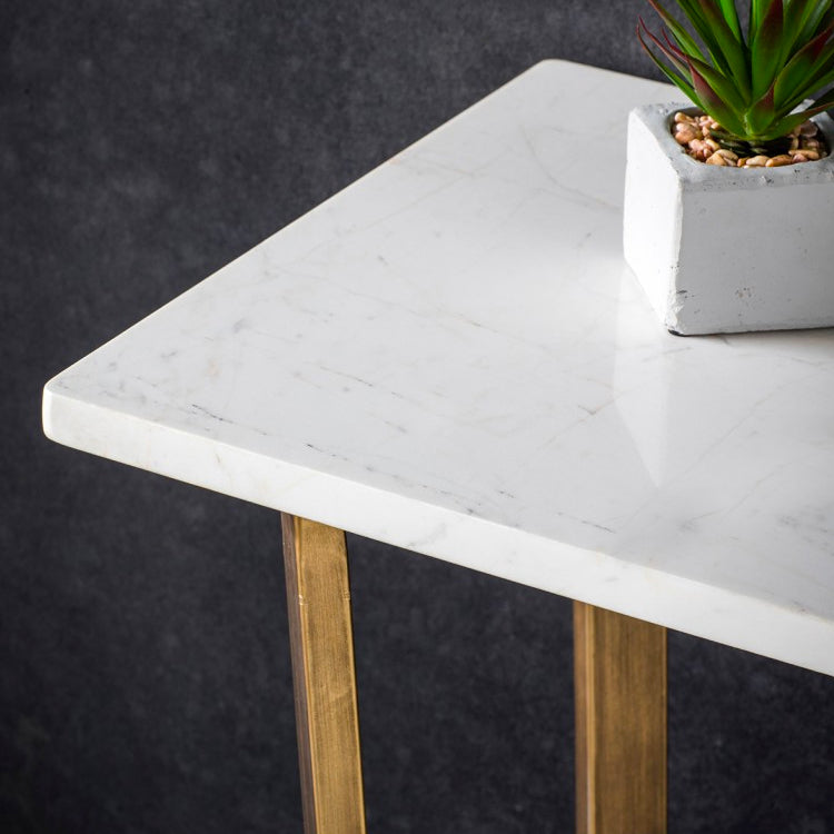 Imanni White Console Table