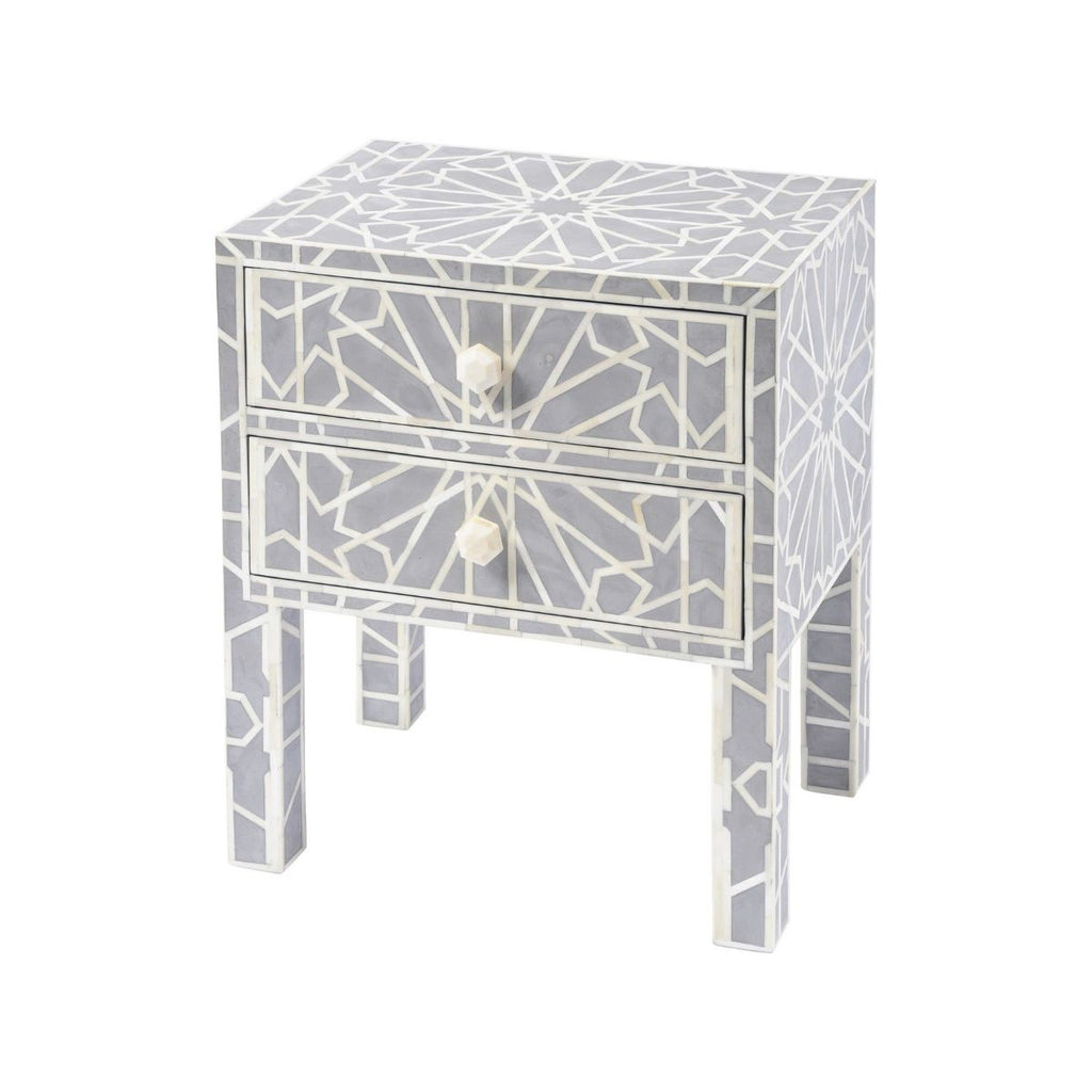 Irenie Inlaid Bedside Table