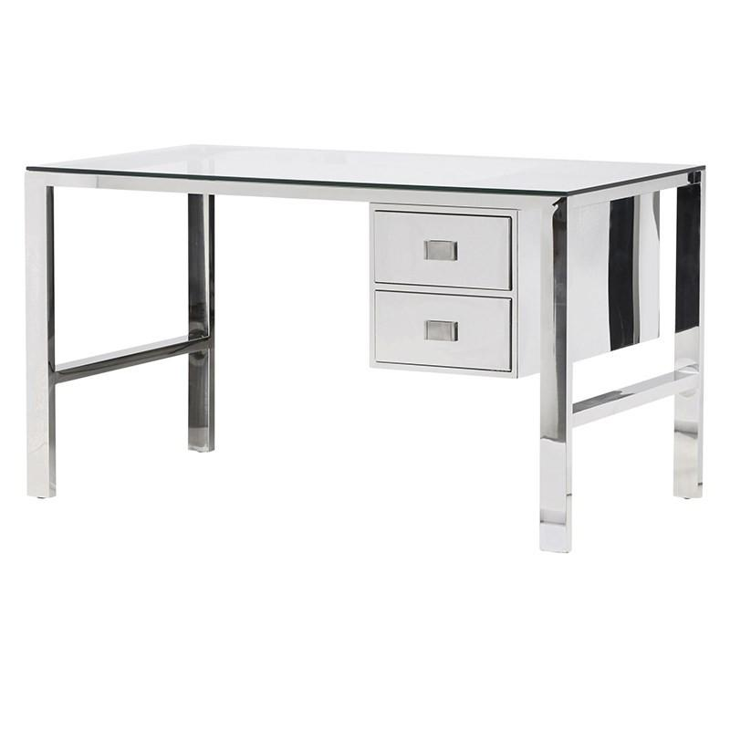 Isadora Glass & Steel Desk