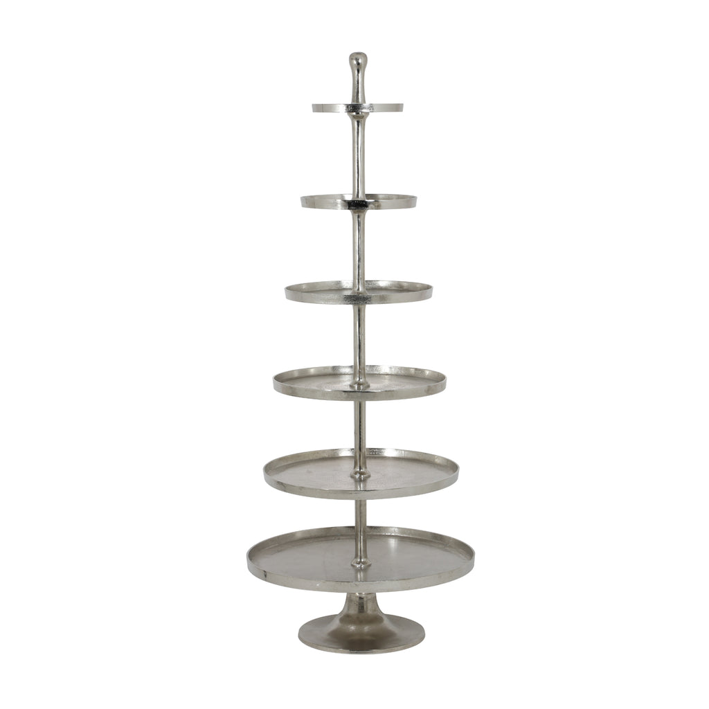 Isko Etagere Stand in Raw Nickel