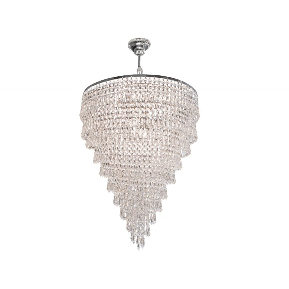 Issma Ceiling Lamp with Glass and Nickel