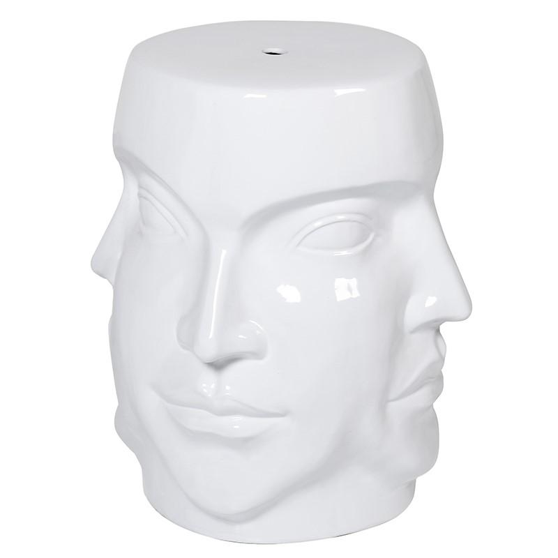 Janus White Four Face Stool