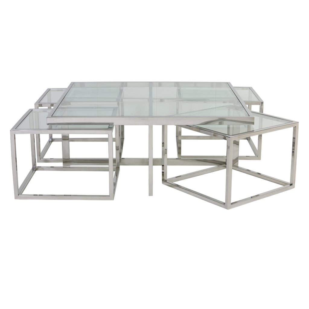 Jericho Coffee Table in Nickel