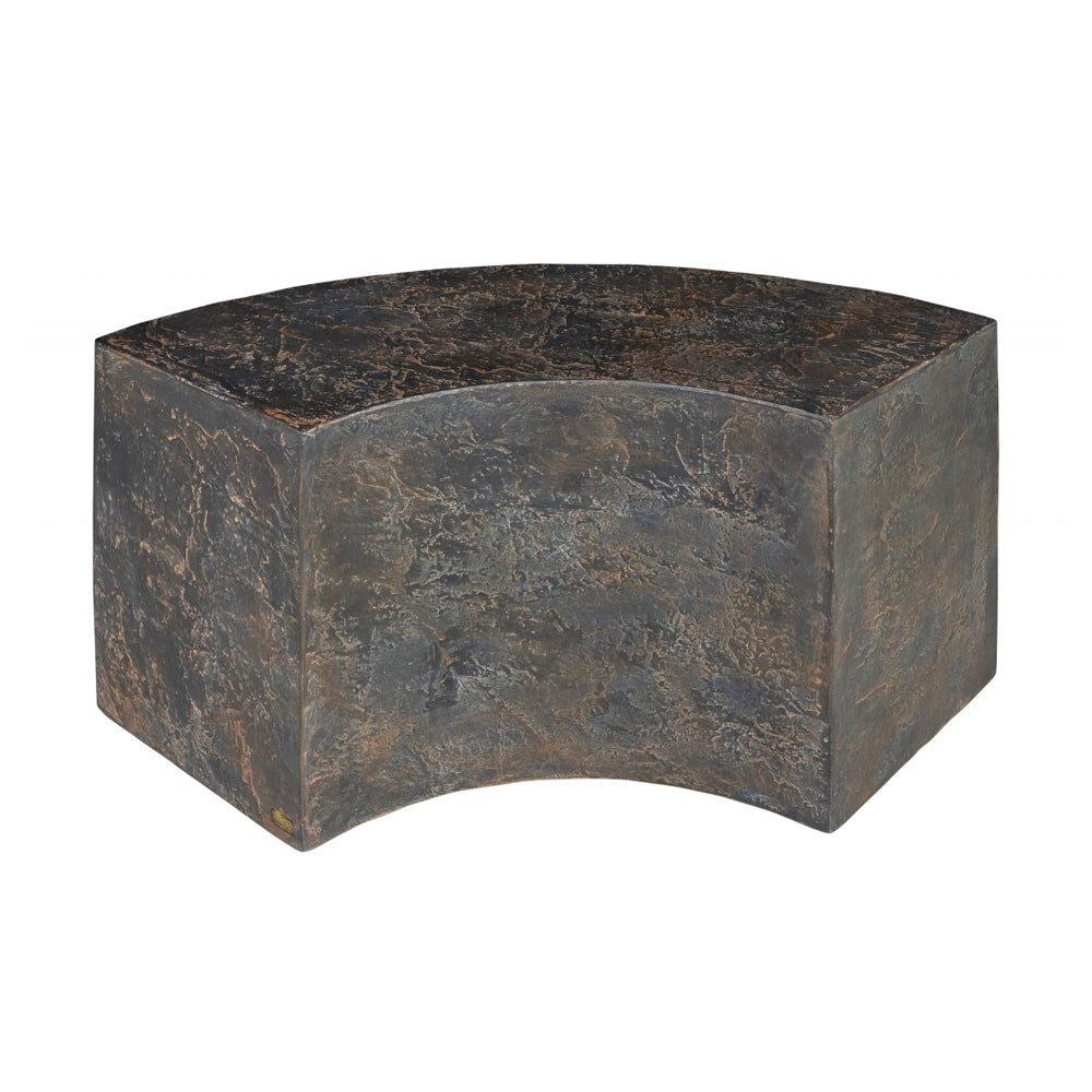 Juddley Curved Table with Concrete and Slate Effect