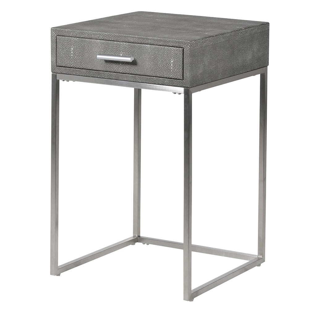 Kisane Grey Shagreen Side Table