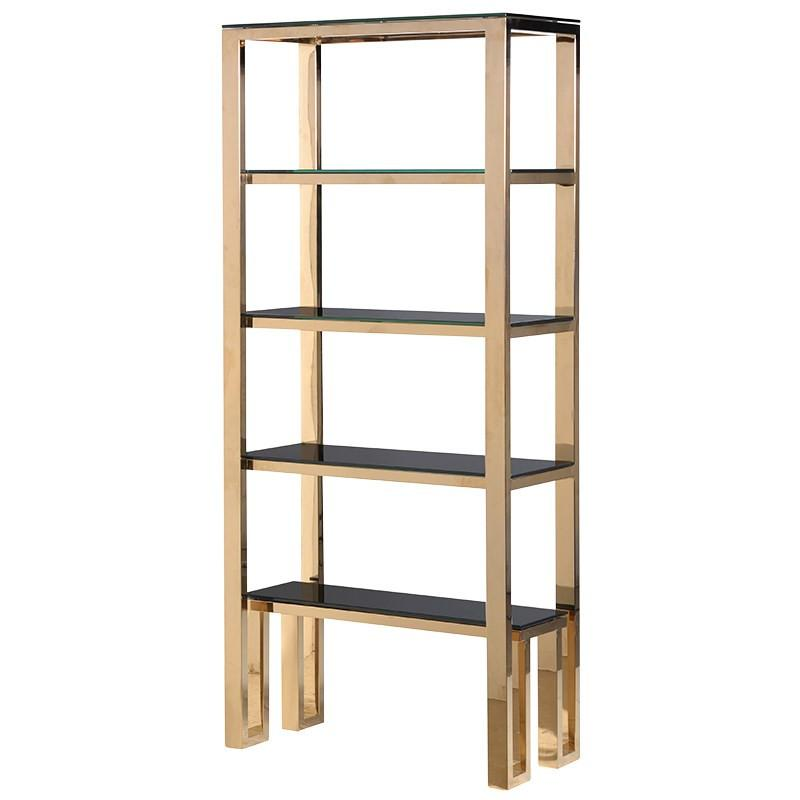La Dolce Vita Gold Open Bookcase Shelves