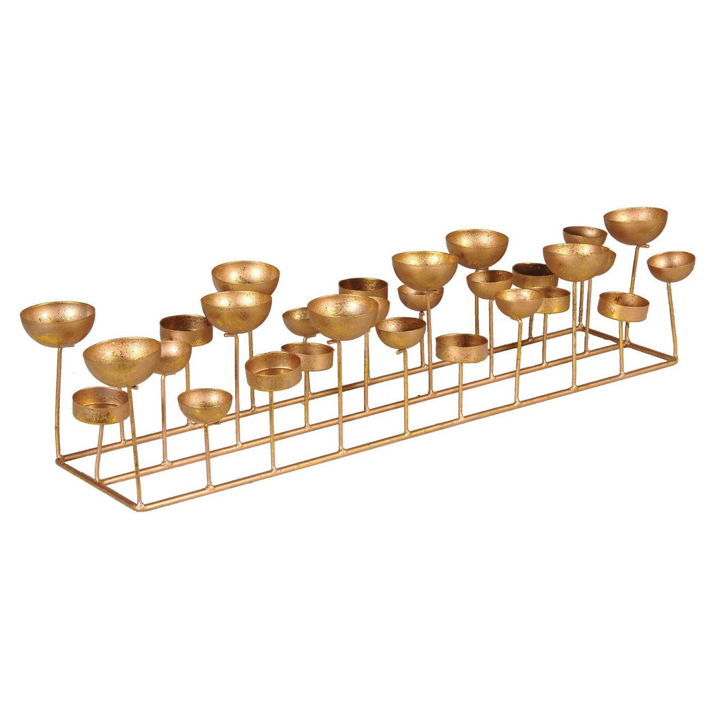 Large Gold Olympic Cauldron Style Tealight Holder