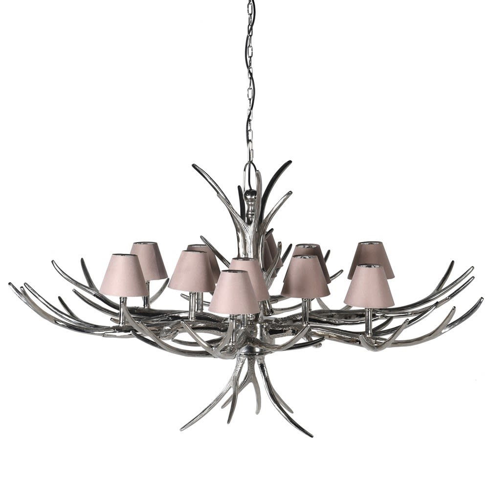 Larimus Large Chandelier with Nickel and Aluminium