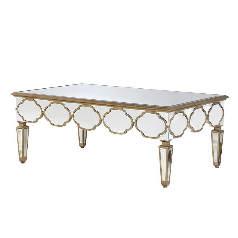 Le Maroc Quatrefoil Mirrored Coffee Table