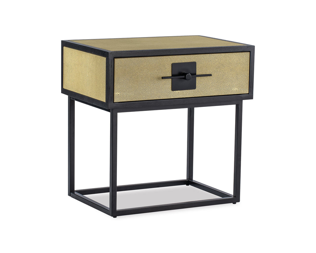Liang & Eimil Noma Bedside Table in Beige Shagreen