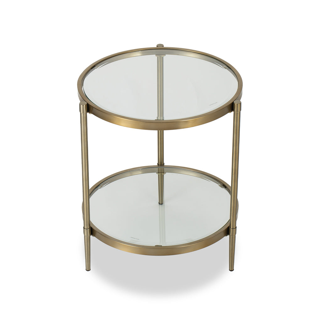 Liang & Eimil Adlon Side Table with Brushed Brass Effect