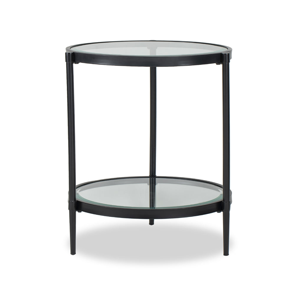 Liang & Eimil Adlon Side Table with Industrial Brown Finish