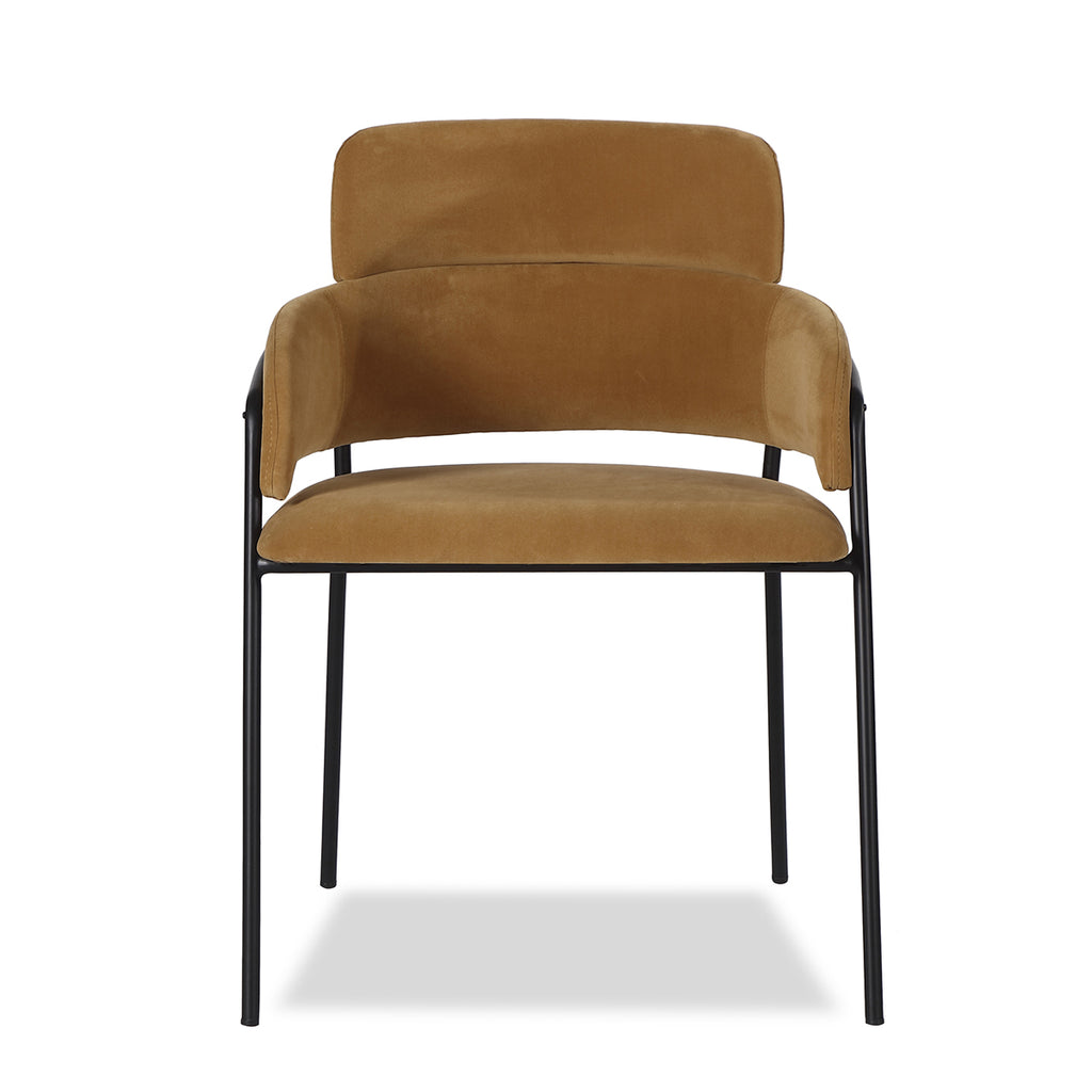 Liang & Eimil Alice Dining Chair with Toscana Camel Velvet