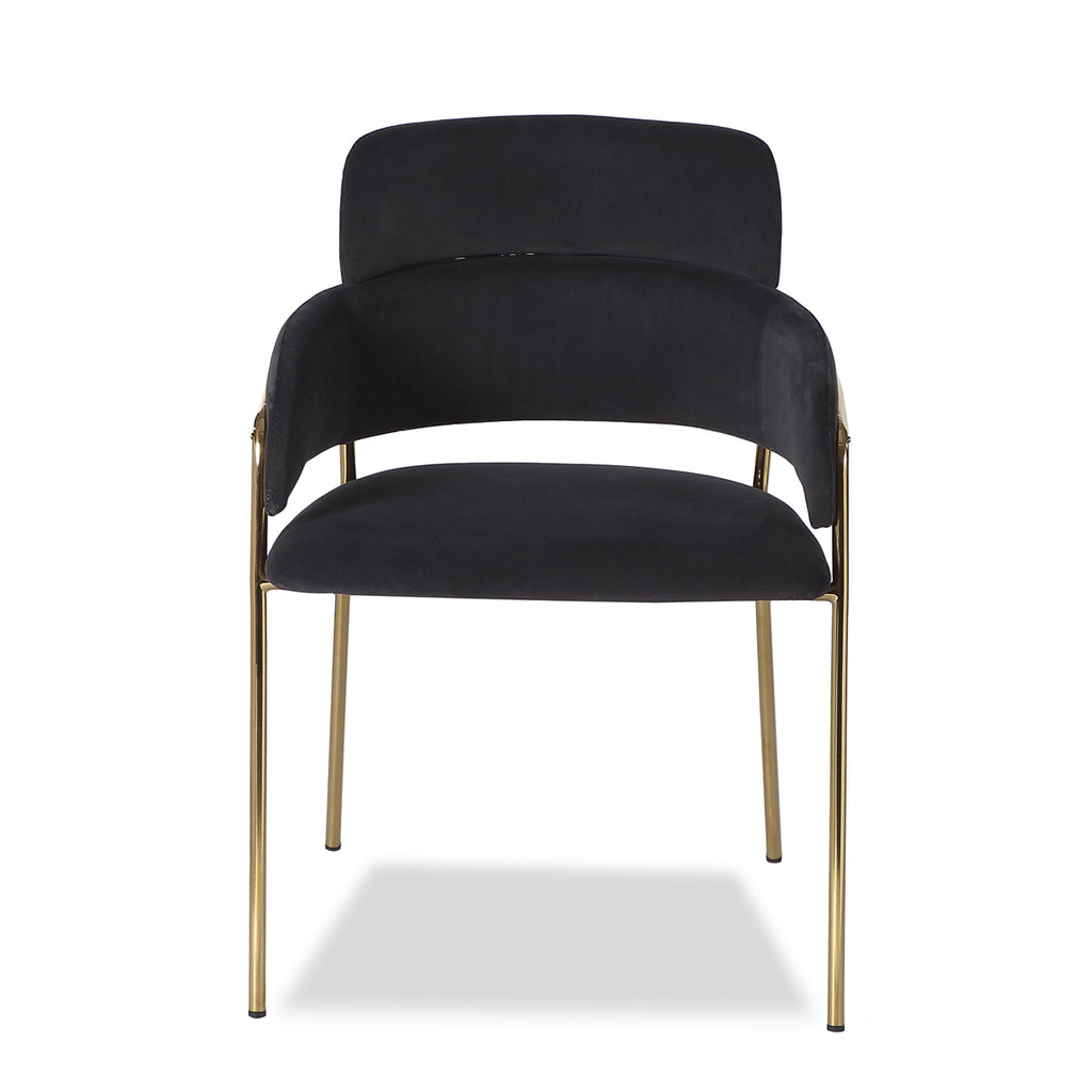 Liang & Eimil Alice Dining Chair with Toscana Coal Velvet