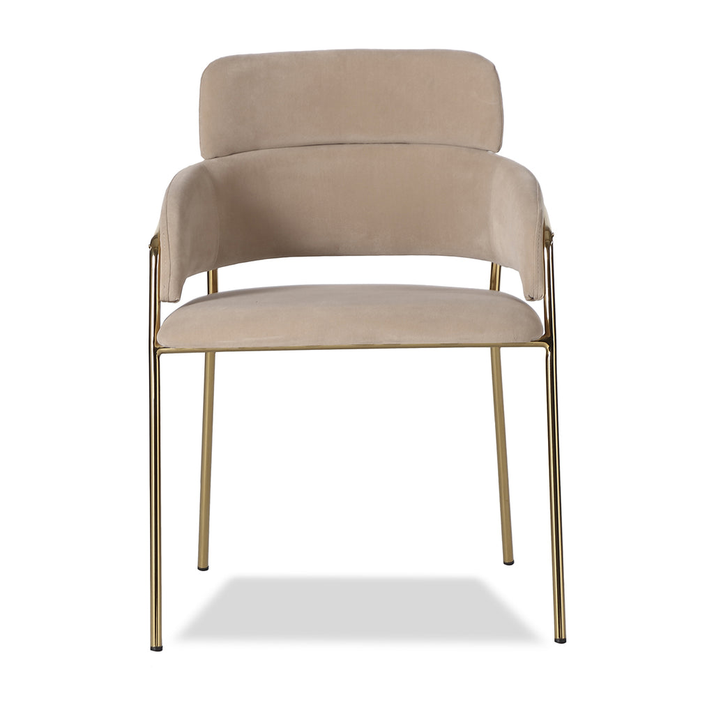 Liang & Eimil Alice Dining Chair with Toscana Latte Velvet
