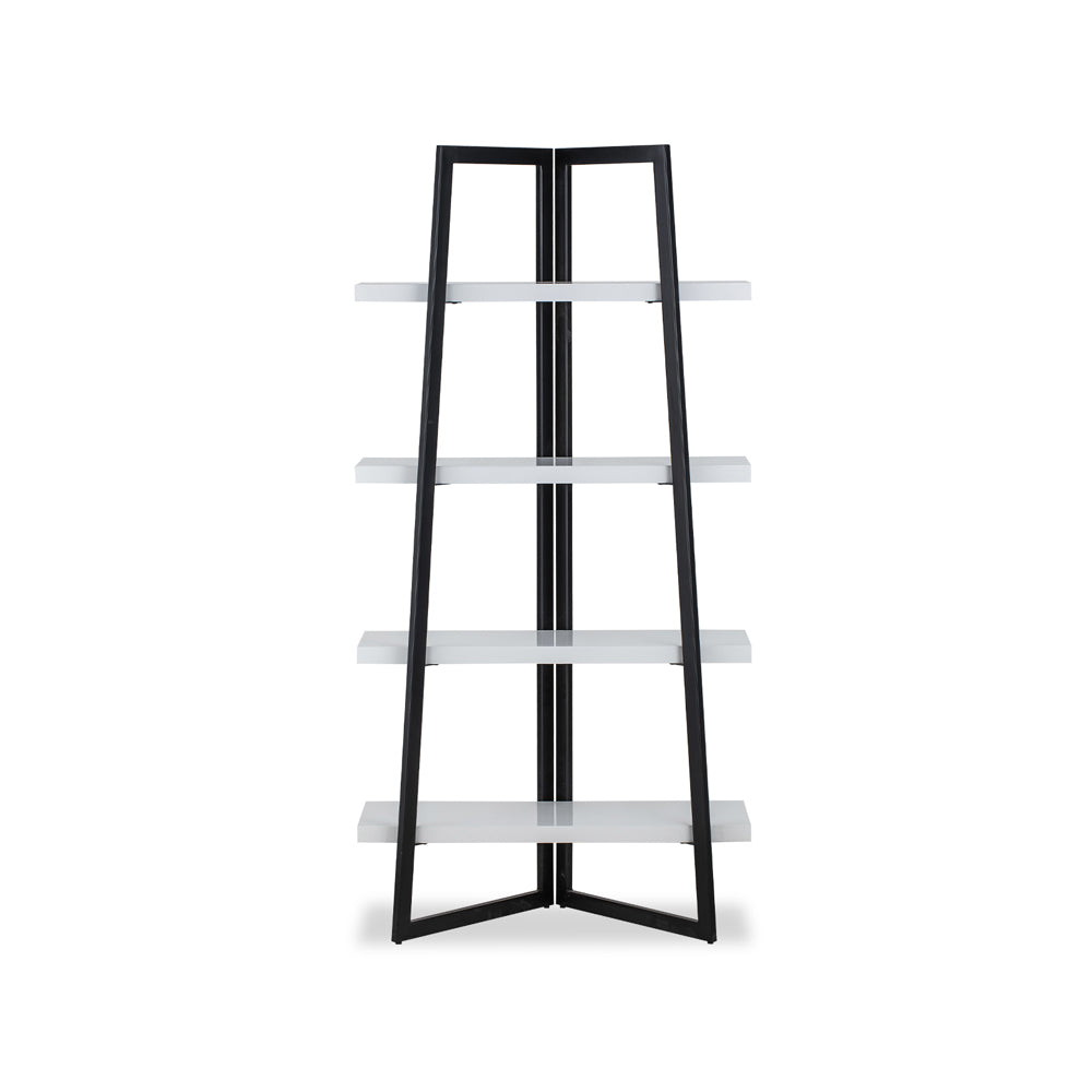 Liang & Eimil Andaz Shelving Unit with High Gloss White Lacquer