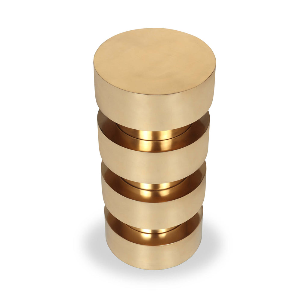 Liang & Eimil Bali Side Table in Polished Brass