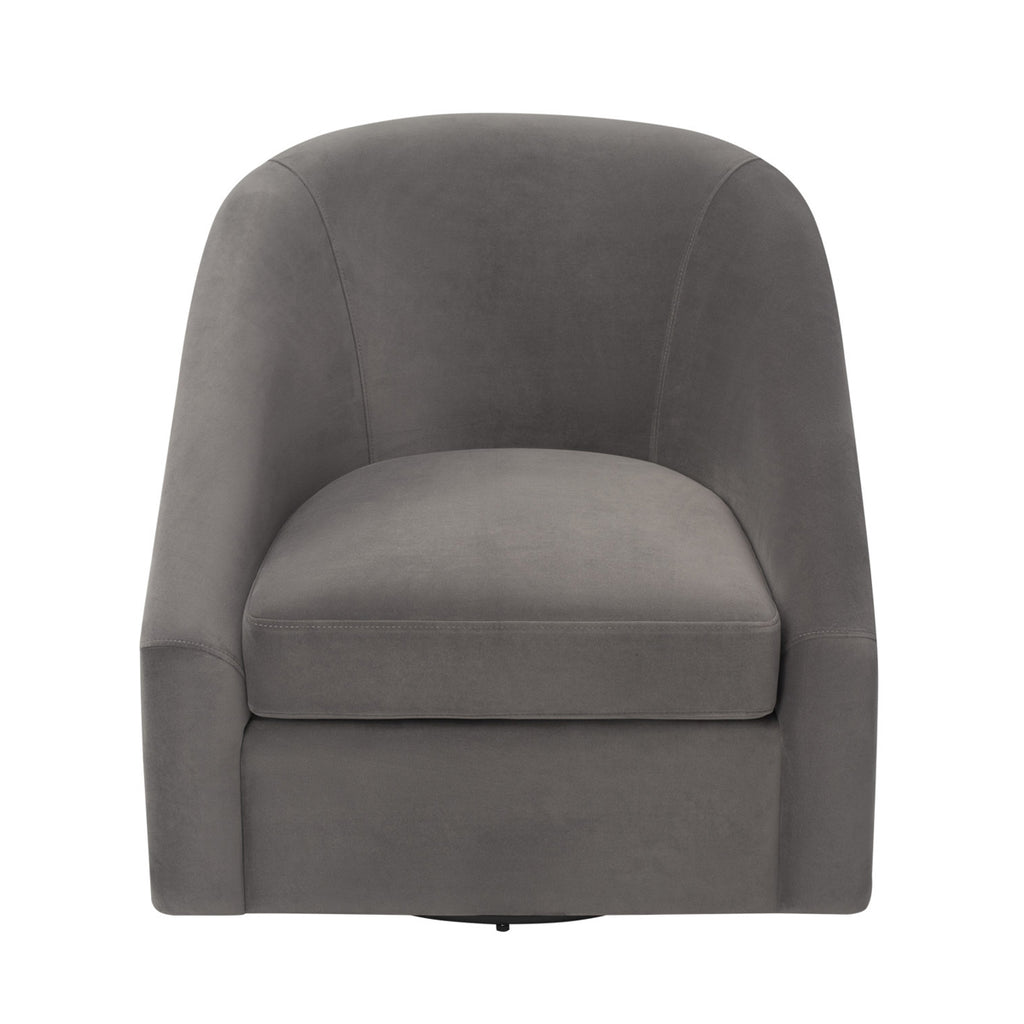 Liang & Eimil Berlin Chair in Kaster Steel Grey Velvet