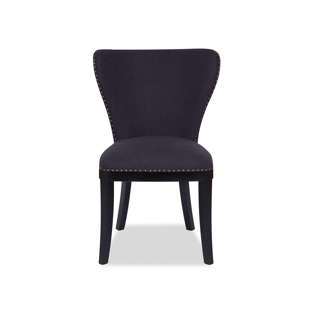 Liang & Eimil Black Linen Everton Dining Chair