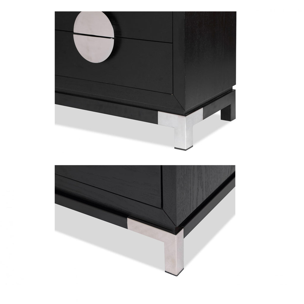Liang & Eimil Black & Silver Otium Bedside