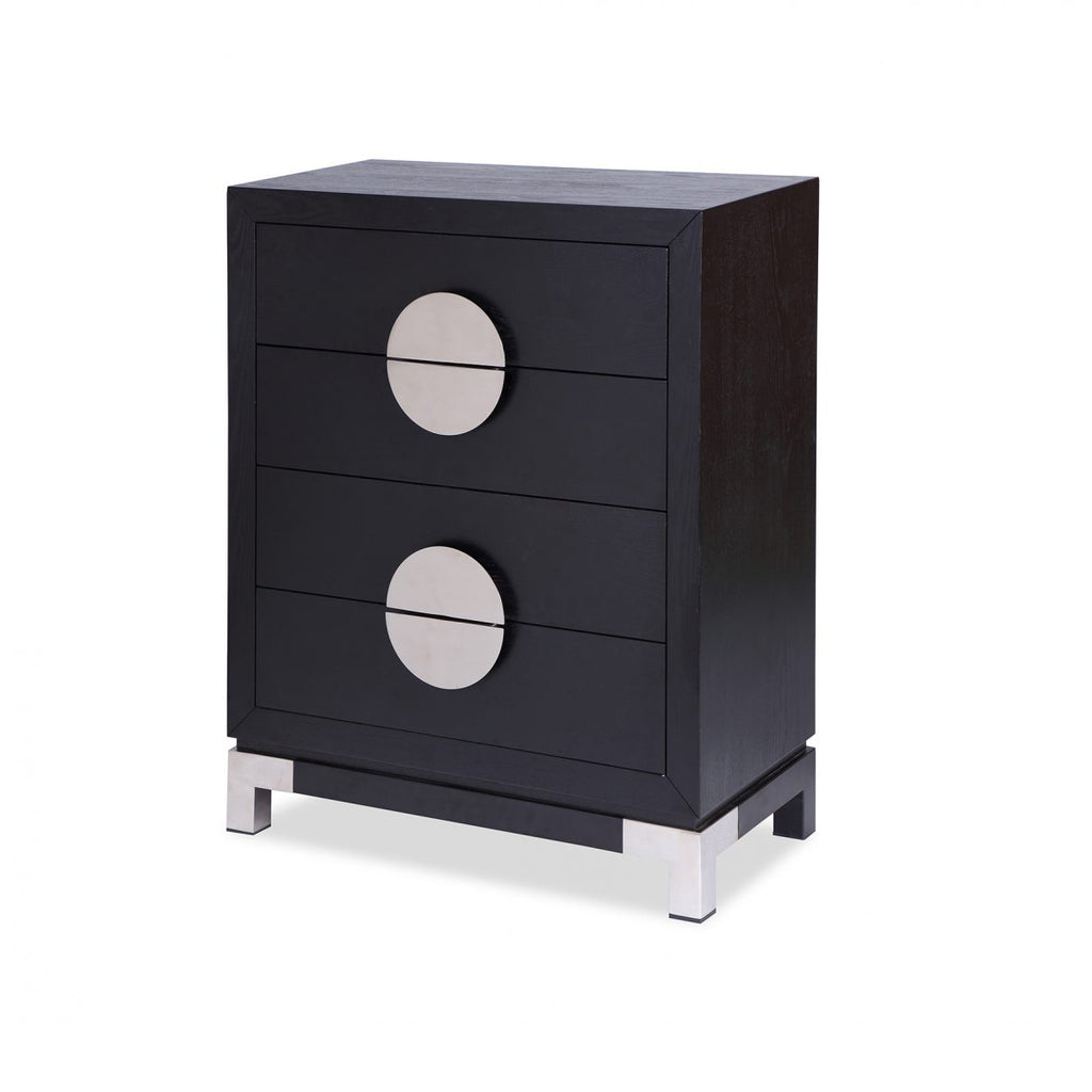 Liang & Eimil Black & Silver Otium Chest of Drawers