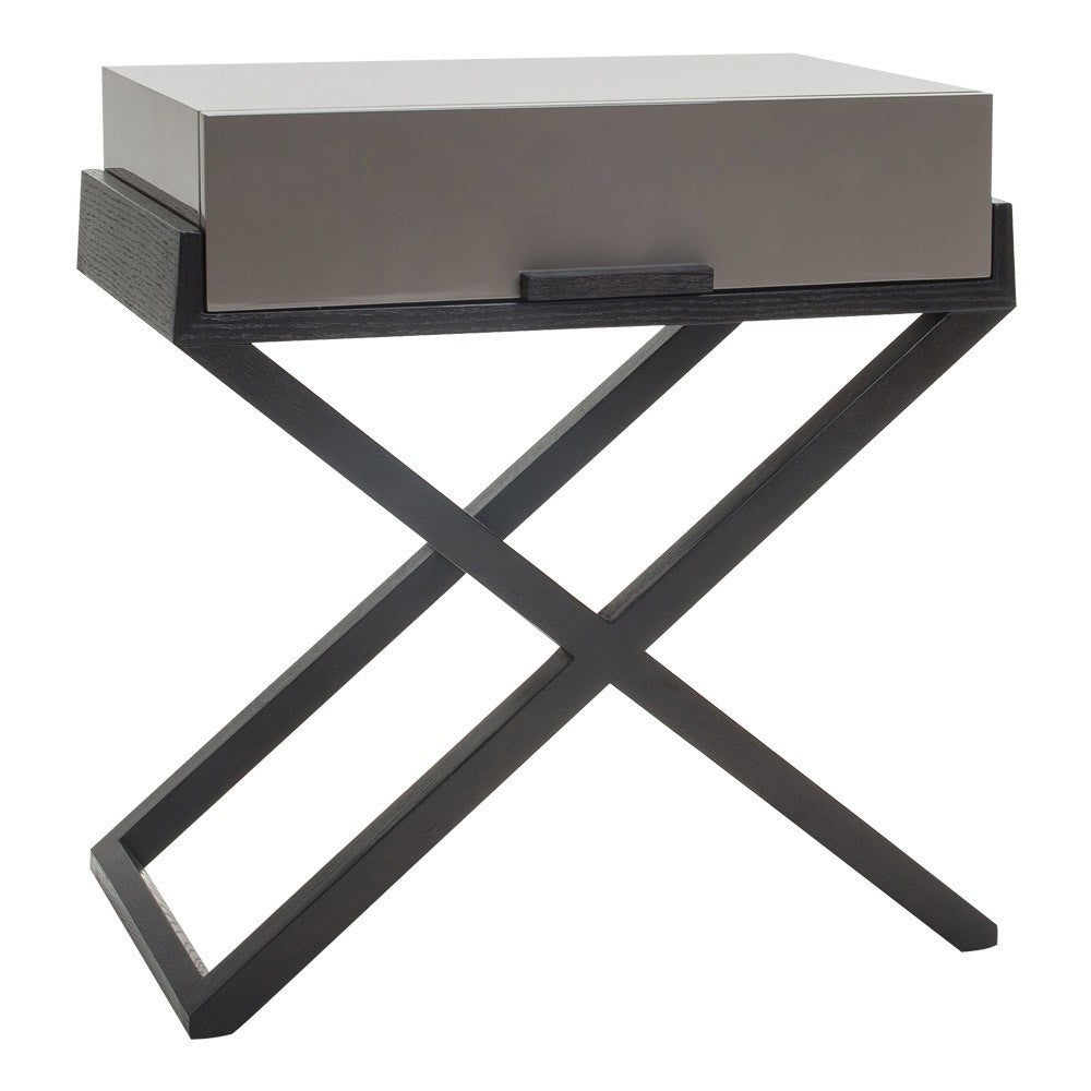 Liang & Eimil Boston Gloss Taupe Bedside Table